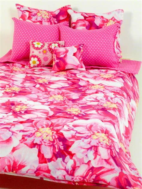 Doll Bedding Set Only ** Pink Bed Sheet Pillow Comforter