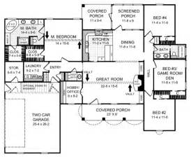 2000 Square Foot House Plans One Story by Country Style House Plans 2000 Square Foot Home 1