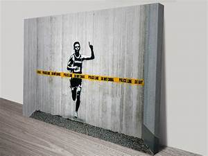 banksy police line canvas wall art print With banksy wall art