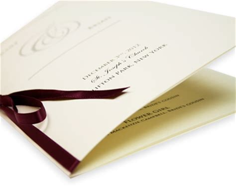 diy wedding programs blank wedding programs