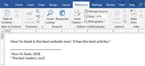 het gebruik van voetnoten en eindnoten  microsoft word