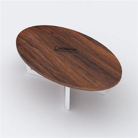 The stylish design fits with most decor while remaining sturdy and functional. Preston Oval Top Wooden Coffee Table - Decornation