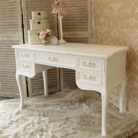 white shabby chic dressing table antique white ornate dressing table desk shabby french chic bedroom furniture ebay