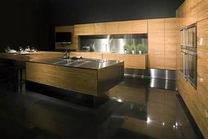 cuisine bois moderne chaleureuse design With cuisine bois design