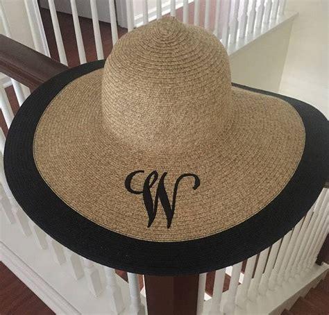 custom embroidered floppy beach hat christmas gifts  women etsy   floppy beach hat