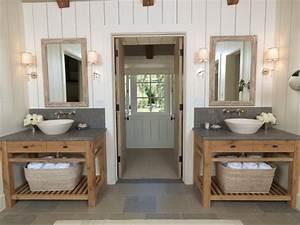Vanity with Concrete Countertops - Country - bathroom - M