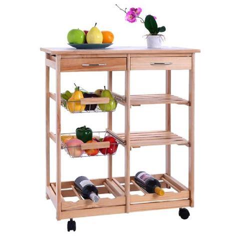 chariot de cuisine en bois chariot de cuisine en bois étagère cabinetmeuble de