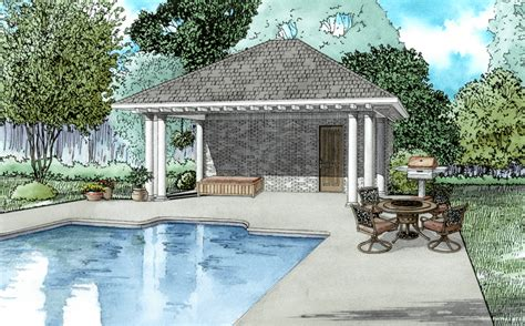 pool house plans with bathroom poolhouse plans 1495 poolhouse plan with bathroom