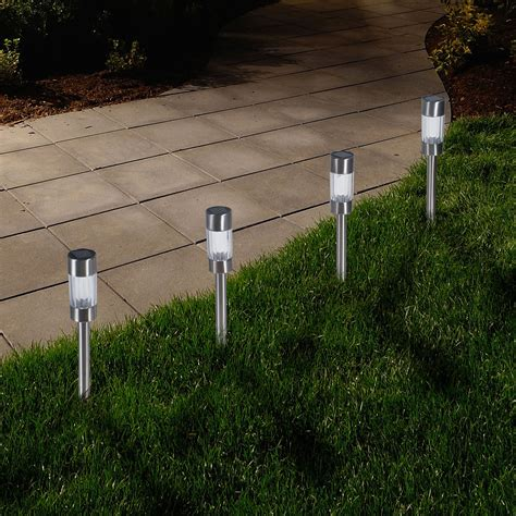 solar yard lights garden outdoor solar yard pathway lights set of 6