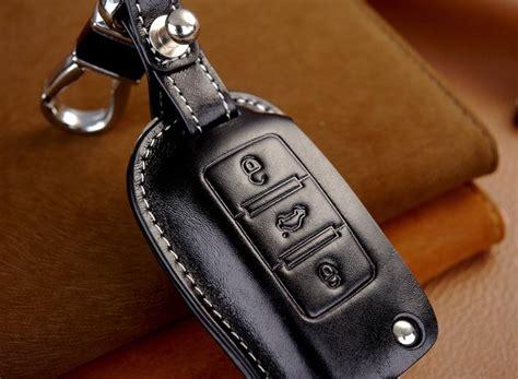 Leather Car Key Cover Holder For Volkswagen Vw Tiguan Golf