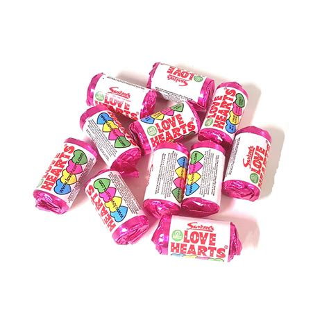 mini love hearts rolls candy sweets party wedding favours swizzels matlow