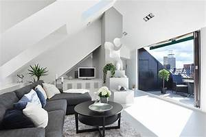 Wohnzimmer Mit Dachschräge : wohnzimmer einrichtung ideen raum mit dachschr ge ~ Lizthompson.info Haus und Dekorationen