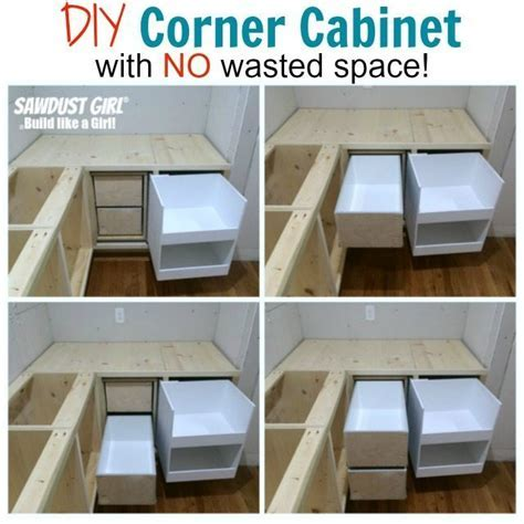 Blind corner cabinet with NO wasted space!   Sawdust Girl®