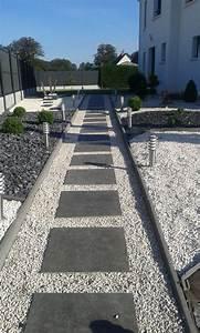 17 meilleures idees a propos de patio pave sur pinterest With dalle pour allee de jardin 4 focus dallage entree moderne terrasse et patio
