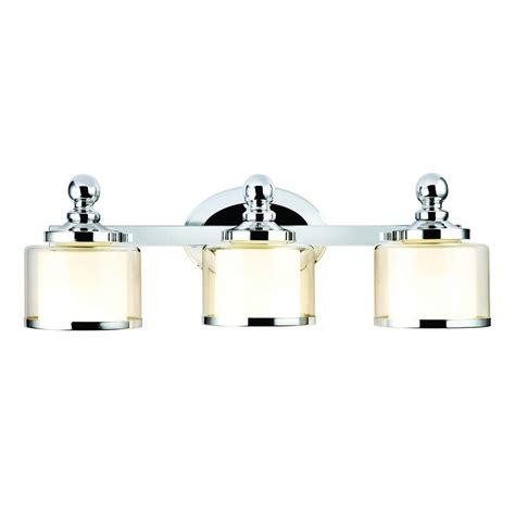 hton bay vanity light hton bay levan 3 light chrome vanity sconce with outer