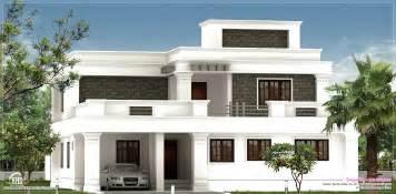home design exterior flat roof villa exterior in 2400 sq kerala home design and floor plans