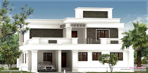 kerala home interior flat roof villa exterior house design plans gmm