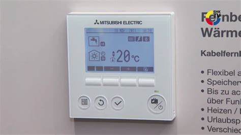 Mitsubishi Thermostat by Mitsubishi Electric W 228 Rmepumpen Regelung Pac If041