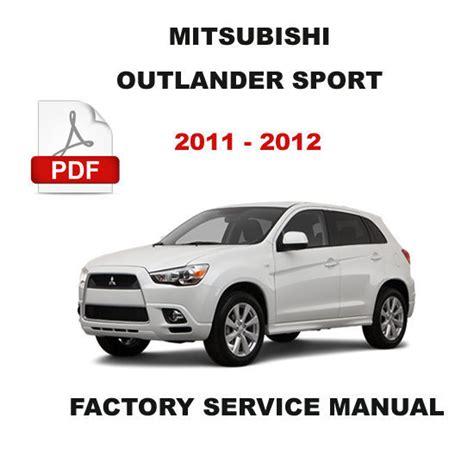 car repair manuals download 2007 mitsubishi outlander engine control mitsubishi 2011 2012 outlander sport engine brake transmission repair manual car truck manuals
