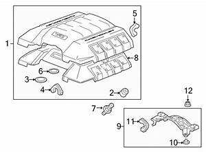 Chevrolet Camaro Engine Cover Insulator  Liter  Supercharger  Front