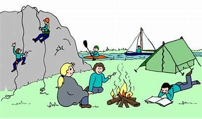 Camping Clip Clipart Activities Camp Fun Outdoor