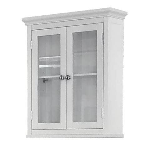 elegant home fashions madison avenue wall cabinet white