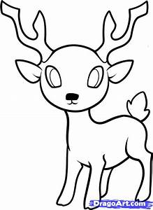 How to Draw a Deer for Kids, Step by Step, Animals For ...