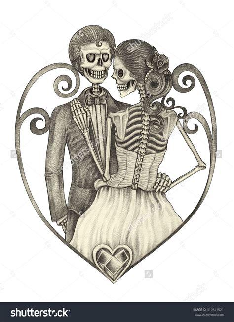 skeleton couple tattoo google search  skeleton