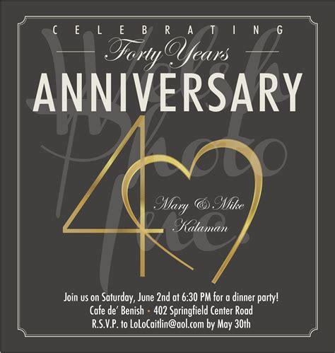 anniversary invites  anniversary invite wording
