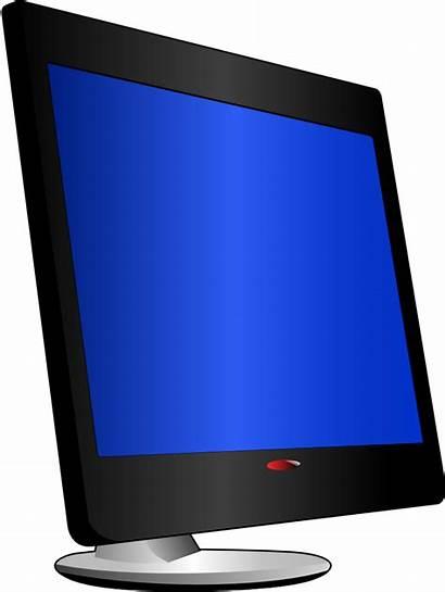 Monitor Clipart Clip Computer Lcd Vektor Hardware