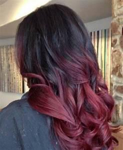 Ombré Hair Rouge : bordowe ombre na w os fryzury ~ Melissatoandfro.com Idées de Décoration