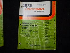 1976 Johnson Outboard 115 Hp Factory Shop Service Manual