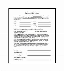Equipment Bill Of Sale 8 Free Word Excel Pdf Format