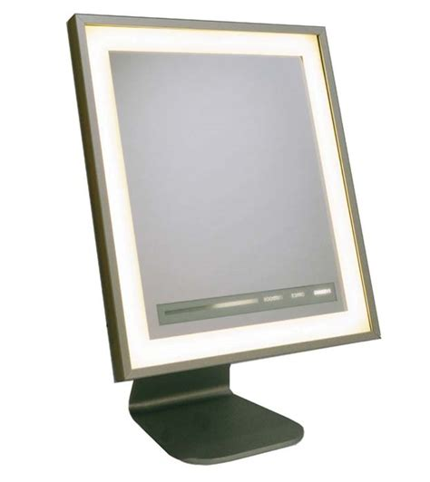 table top mirror with lights unique scenescetter lighted dressing room mirrors