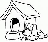 Coloring Dog Kennel Doghouse Drawing Outline Template Templates Colouring Clipart Clip Puppy Printable Gingerbread Pup Hungry Getdrawings Clipartmag Popular sketch template