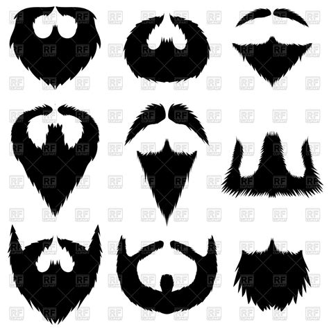 Set of mustaches and beards Vector Image of People ...
