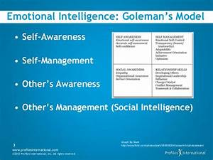 They get me : Emotional Intelligence