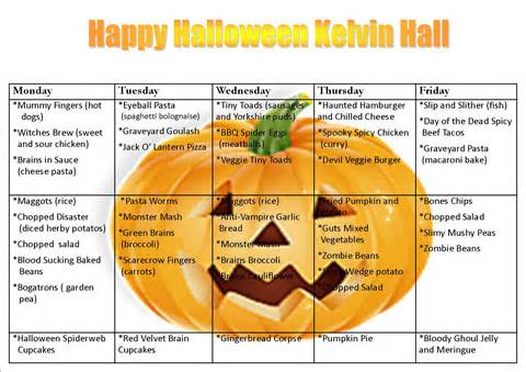 Spooky Halloween Menu