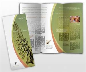 therapeutic massage chiropractic therapy office tri fold With free massage therapy brochure templates