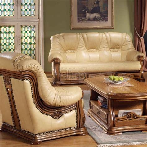canape cuir rustique ensemble salon cuvette rustique stylisé avec tiroirs cuir