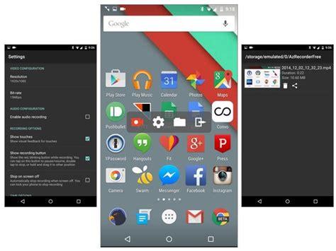 android screen recorder graba todo lo que haces en la pantalla de tu android con