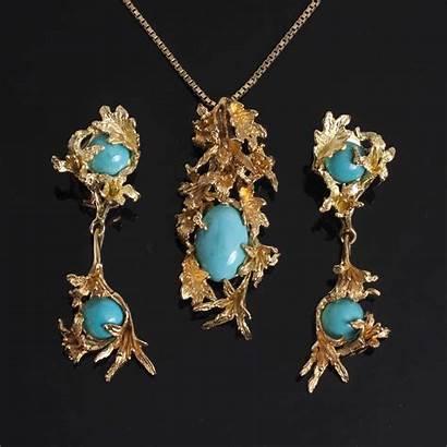 Turquoise Jewelry Suite 14k