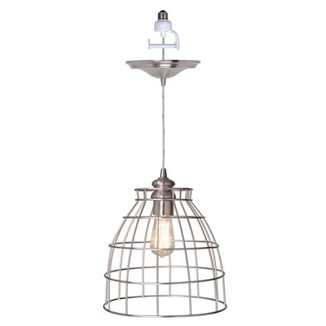 pendant light conversion kit worth home products instant pendant series 1 light brushed