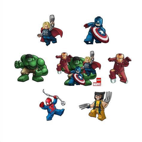 lego marvel avengers superheroes character stickers