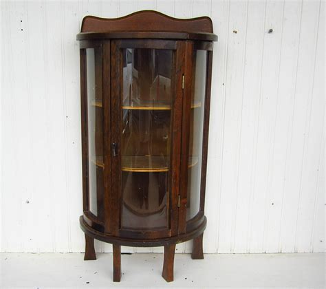 curved glass curio cabinet vintage curio display cabinet curved glass doors