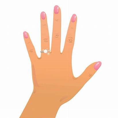 Ring Finger Vector Engagement Clipart Clip Hand