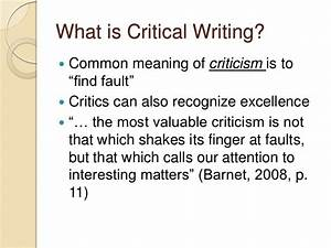 Critical essay definition essay writing myself critical analysis