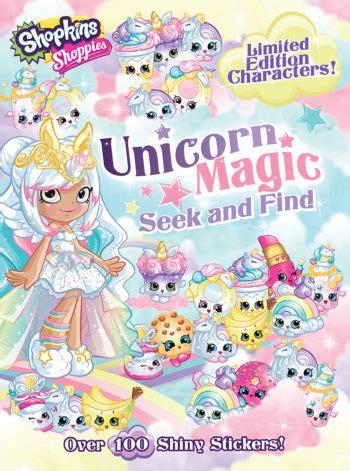 shoppies unicorn magic seek  find  bee books
