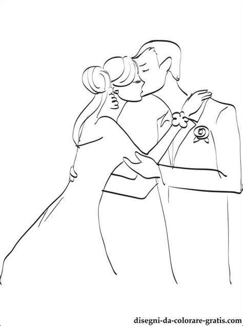 disegno  bacio  nozze da colorare disegni da colorare gratis