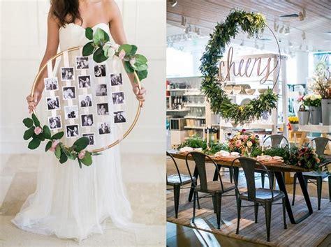 decoratie trouwfeest leuk diy project hoepel als bruiloft decoratie bruiloft